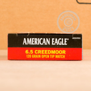 Photograph showing detail of 6.5MM CREEDMOOR FEDERAL AMERICAN EAGLE 120 GRAIN OTM (200 ROUNDS)