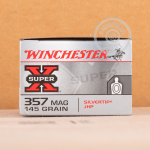 A photo of a box of Winchester ammo in 357 Magnum.
