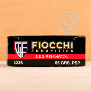 Image of the .223 REMINGTON FIOCCHI 55 GRAIN PSP (200 ROUNDS) available at AmmoMan.com.