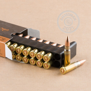 Image of PMC 7.62 x 39 rifle ammunition.