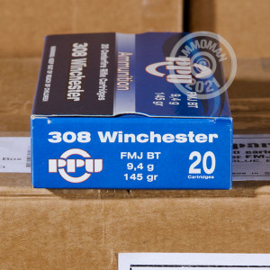 Image of 308 / 7.62x51 ammo by Prvi Partizan that's ideal for training at the range.