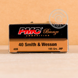 An image of .40 Smith & Wesson ammo made by PMC at AmmoMan.com.