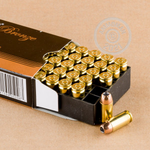A photograph of 50 rounds of 165 grain .40 Smith & Wesson ammo with a JHP bullet for sale.