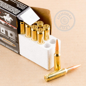 Photograph showing detail of 6.5 Creedmoor - 140 Grain BTHP Match - Winchester - 20 Rounds