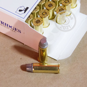 Image detailing the brass case and boxer primers on the Great Lakes ammunition.