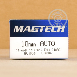 Image of Magtech 10mm pistol ammunition.