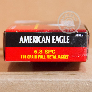 Photo of 6.8 SPC FMJ ammo by Federal for sale.
