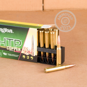 A photograph of 20 rounds of 168 grain 30.06 Springfield ammo with a TSX bullet for sale.