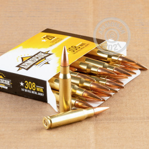 A photo of a box of Armscor ammo in 308 / 7.62x51.