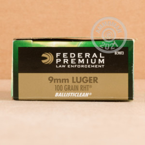 Image of 9mm Luger ammo by Federal that's ideal for shooting indoors, shooting steel targets, training at the range.