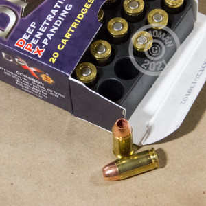 A photograph detailing the .32 ACP ammo with JHP bullets made by Corbon.