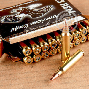 Image of the 223 REMINGTON FEDERAL AMERICAN EAGLE 55 GRAIN FMJ 20 ROUNDS available at AmmoMan.com.