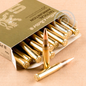 A photo of a box of Sellier & Bellot ammo in 30.06 Springfield.