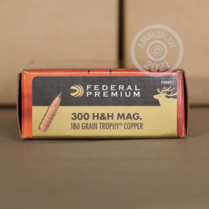 Image of the 300 H&H FEDERAL VITAL-SHOK 180 GRAIN JHP (20 ROUNDS) available at AmmoMan.com.