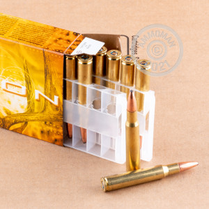 Image of 30.06 Springfield ammo by Federal that's ideal for whitetail hunting.