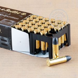 Image detailing the brass case and boxer primers on the Sellier & Bellot ammunition.