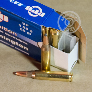 A photo of a box of Prvi Partizan ammo in 223 Remington.