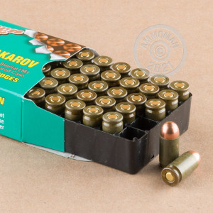 A photograph of 1000 rounds of 94 grain 9x18 Makarov ammo with a FMJ bullet for sale.