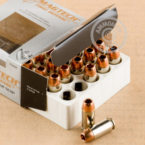 A photograph of 20 rounds of 130 grain .40 Smith & Wesson ammo with a JHP bullet for sale.