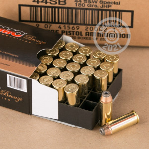 Image of 44 Special ammo by PMC that's ideal for home protection.