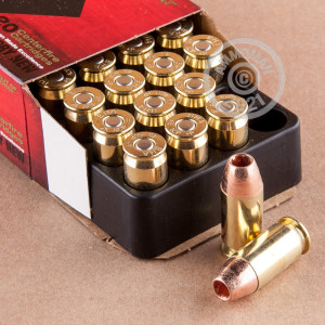Photo of .45 Automatic JHP ammo by Black Hills Ammunition for sale at AmmoMan.com.