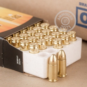 Image of Armscor 9mm Luger pistol ammunition.