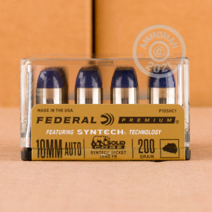 Photo of 10mm Flat-Point Solids ammo by Federal for sale at AmmoMan.com.