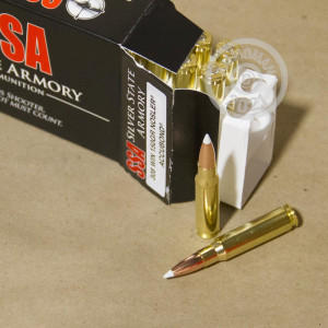 A photo of a box of Silver State Armory ammo in 308 / 7.62x51.