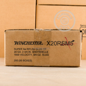 Photograph of Winchester 20 Gauge Rifled Slug for sale at AmmoMan.com