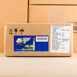 Image of Silver Bear 308 / 7.62x51 rifle ammunition.