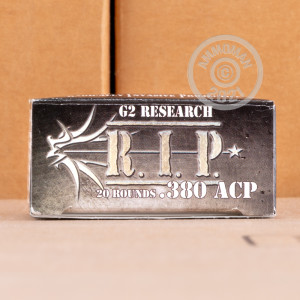 Image of G2 Research .380 Auto pistol ammunition.
