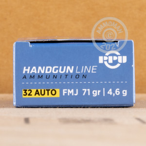 Image of .32 ACP ammo by Prvi Partizan that's ideal for training at the range.