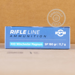 Image of 300 Winchester Magnum ammo by Prvi Partizan that's ideal for whitetail hunting.