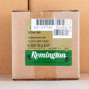 Photo of .40 Smith & Wesson JHP ammo by Remington for sale at AmmoMan.com.