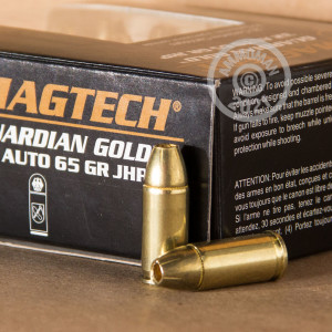 Image of .32 ACP ammo by Magtech that's ideal for home protection.