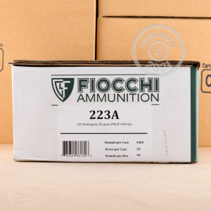Image of the 223 REMINGTON FIOCCHI SHOOTING DYNAMICS 55 GRAIN FMJ (50 ROUNDS) available at AmmoMan.com.