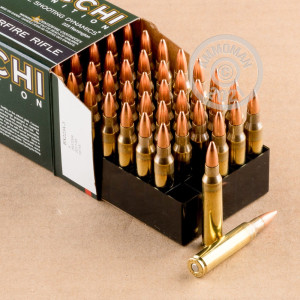 Photograph showing detail of 223 REMINGTON FIOCCHI SHOOTING DYNAMICS 55 GRAIN FMJ (50 ROUNDS)