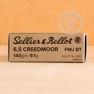 Image of the 6.5 CREEDMOOR SELLIER & BELLOT 140 GRAIN FMJBT (500 ROUNDS) available at AmmoMan.com.