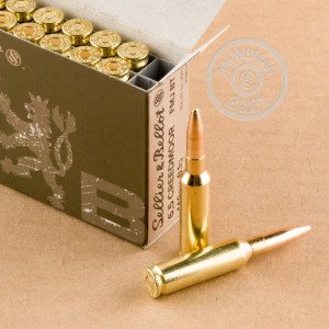 Photograph showing detail of 6.5 CREEDMOOR SELLIER & BELLOT 140 GRAIN FMJBT (500 ROUNDS)