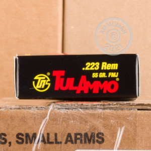Image of the 223 REM TULA 55 GRAIN FMJ STEEL CASE (1000 ROUNDS) available at AmmoMan.com.