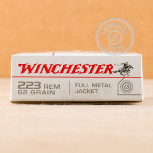 Image of the 223 REMINGTON WINCHESTER 62 GRAIN FMJ (20 ROUNDS) available at AmmoMan.com.