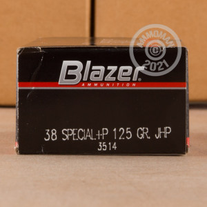 Image of 38 Special ammo by Blazer that's ideal for home protection.