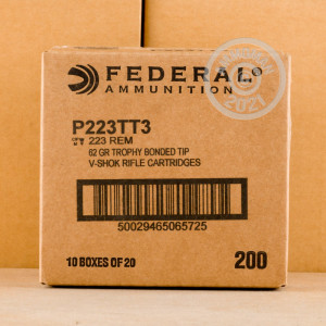 Image detailing the nickel-plated brass case on the Federal ammunition.