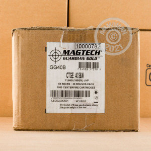 Image of .40 Smith & Wesson ammo by Magtech that's ideal for home protection.