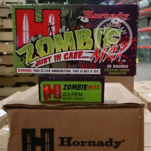 Image of the 223 REM HORNADY 55 GRAIN Z-MAX (20 ROUNDS) available at AmmoMan.com.