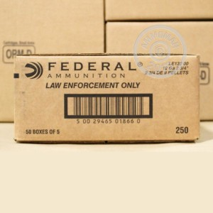 Picture of 12 GAUGE FEDERAL TACTICAL 00 BUCKSHOT (250 ROUNDS)