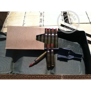 A photograph detailing the bulk 5.56x45mm ammo with M196 Tracer bullets made by Lake City.