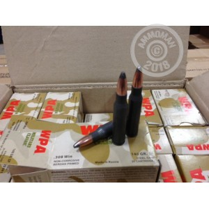 A photograph of 500 rounds of 140 grain 308 / 7.62x51 ammo with a soft point bullet for sale.