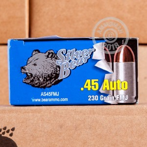 Photo of .45 Automatic FMJ ammo by Silver Bear for sale at AmmoMan.com.