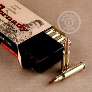 Image detailing the brass case on the Hornady ammunition.